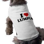I Love Lumpia Pet T-shirt