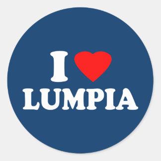 I Love Lumpia Round Stickers