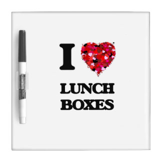 I Love Lunch Boxes Dry Erase Whiteboards