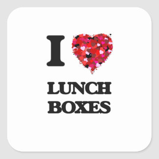 I Love Lunch Boxes Square Sticker