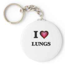 I Love Lungs Keychain
