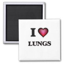 I Love Lungs Magnet
