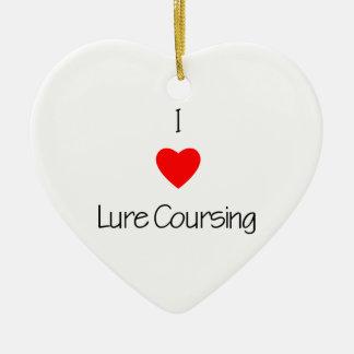 I Love Lure Coursing Ceramic Ornament
