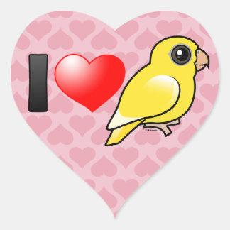 I Love Lutino Linnies Heart Sticker