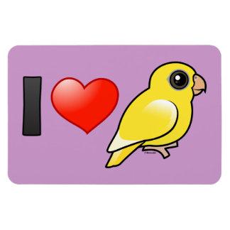I Love Lutino Linnies Magnet