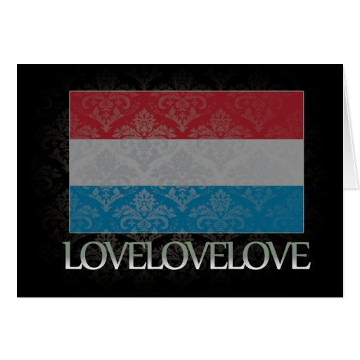 I love Luxembourg Cool Greeting Cards