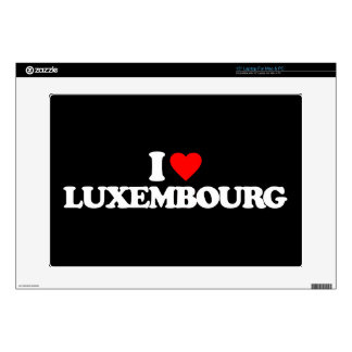 I LOVE LUXEMBOURG DECAL FOR LAPTOP