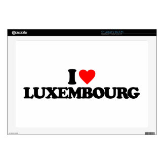 I LOVE LUXEMBOURG LAPTOP DECAL
