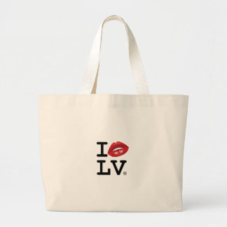 I LOVE LV KISS JUMBO TOTE BAG