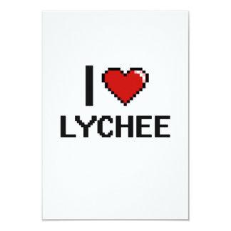 I Love Lychee 3.5x5 Paper Invitation Card