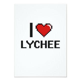 I Love Lychee 5x7 Paper Invitation Card