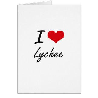 I Love Lychee artistic design Greeting Card