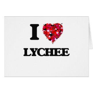 I Love Lychee food design Greeting Card
