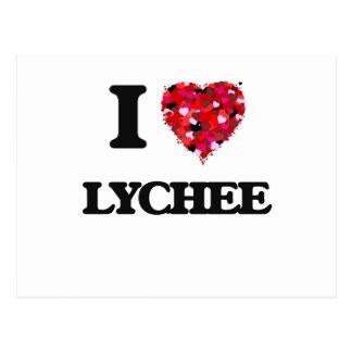 I Love Lychee food design Postcard