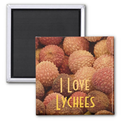 I Love Lychees Magnet Magnets