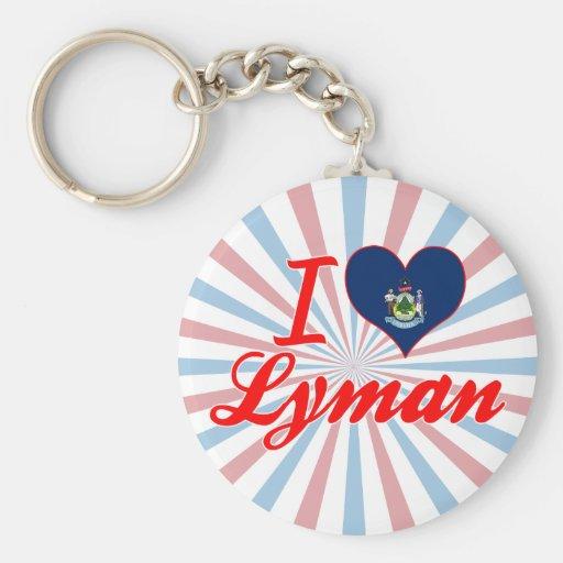 I Love Lyman, Maine Keychains