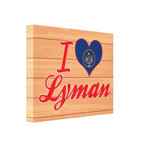 I Love Lyman, Utah Canvas Print