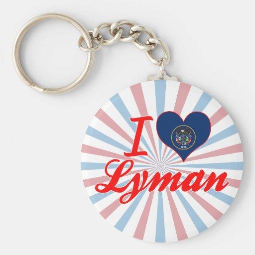 I Love Lyman, Utah Key Chain