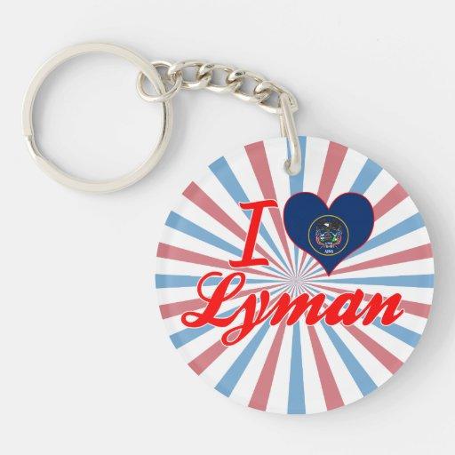 I Love Lyman, Utah Keychain
