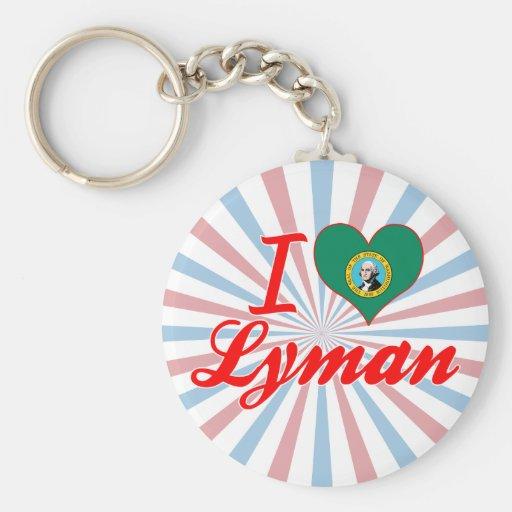 I Love Lyman, Washington Keychains