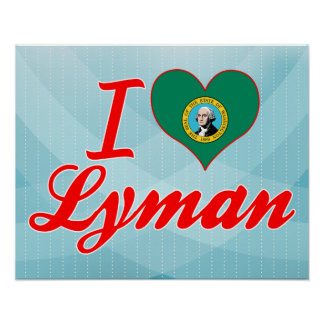 I Love Lyman, Washington Print