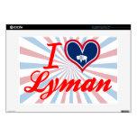 "I Love Lyman, Wyoming 15"" Laptop Decals"