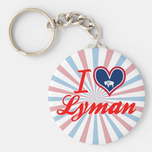 I Love Lyman, Wyoming Key Chain
