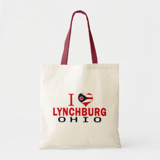 I love Lynchburg Ohio Tote Bags