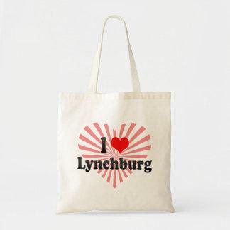 I Love Lynchburg United States Canvas Bags