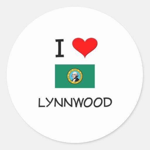 I Love Lynnwood Washington Round Sticker