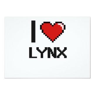 I love Lynx Digital Design 5x7 Paper Invitation Card