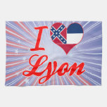 I Love Lyon, Mississippi Towels