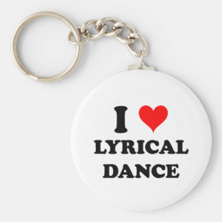 I Love Lyrical Dance Keychain