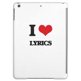 I Love Lyrics iPad Air Cover