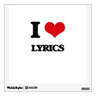I Love Lyrics Wall Skin