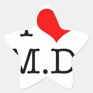 I LOVE M.D. STAR STICKER