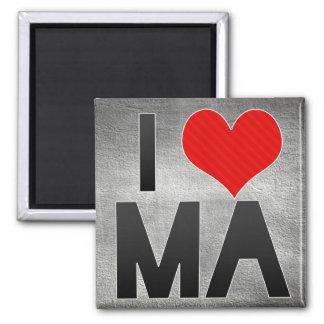 I Love MA Refrigerator Magnets