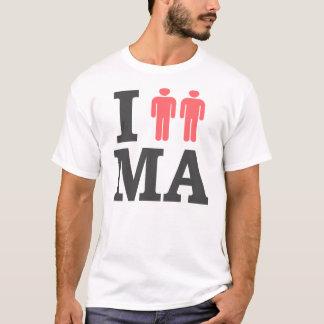I Love MA Massachusetts Boston Gay Marriage Pride T-Shirt