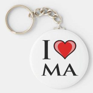 Map Keychain Chelsea MA Revere Massachusetts Key Ring Fob