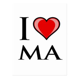 I Love MA - Massachusetts Postcard