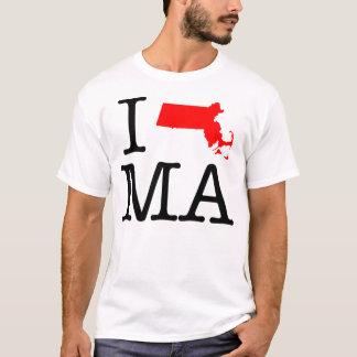 I Love MA Massachusetts T-Shirt