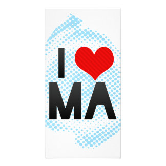 I Love MA Personalized Photo Card