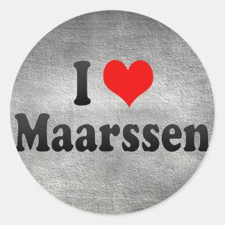 I Love Maarssen, Netherlands Classic Round Sticker