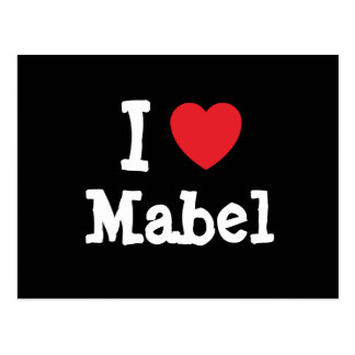 I love Mabel heart T-Shirt Post Card
