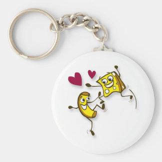 I love mac and cheese basic round button keychain
