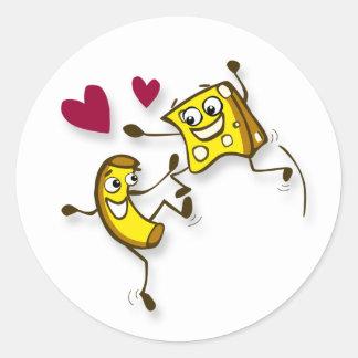 I love mac and cheese classic round sticker