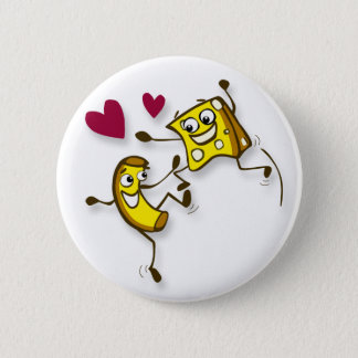 I love mac and cheese pinback button