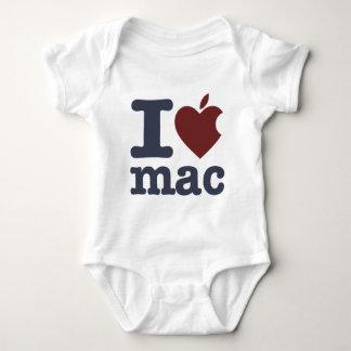 I Love Mac Baby Bodysuit