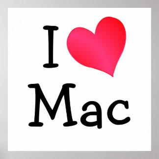I Love Mac Poster