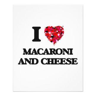 "I love Macaroni And Cheese 4.5"" X 5.6"" Flyer"